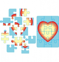 puzzle backgroun vector image