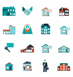 Real Estate Icon Flat vector image
