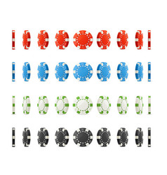 realistic detailed 3d poker chips set different vector image