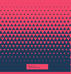 Red and blue abstract triangle background vector