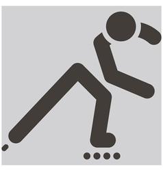 roller skates icon vector image