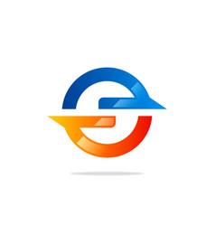 round power technology logo vector image