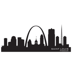 Saint Louis Missouri skyline Detailed silhouette vector image