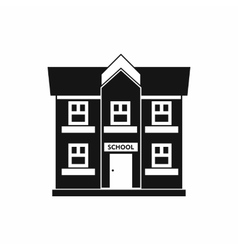 School building icon simple style vector
