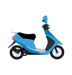 Scooter silhouette symbol and bike cartoon icon vector