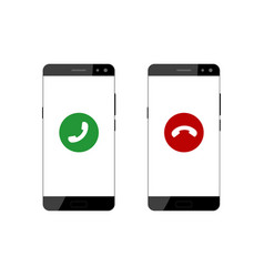 screen of smartphone with incoming call vector image