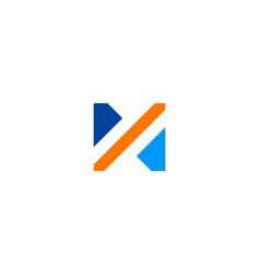shape letter n logo vector image