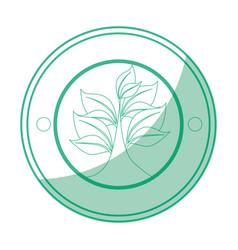 Sheet tree round icon vector