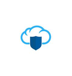 shield weather and season logo icon design vector image