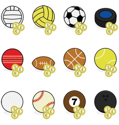Sports betting icons vector