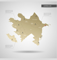 stylized azerbaijan map vector image