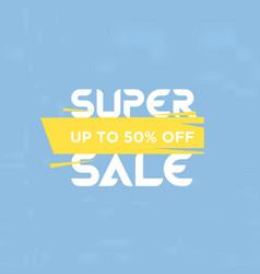 super sale banner template design vector image