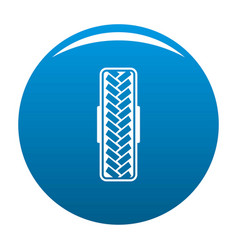 tread pattern icon blue vector image