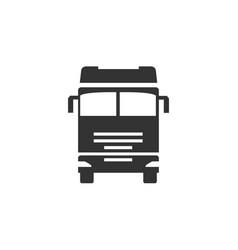 truck logo transportation vehicle travel trucking vector image
