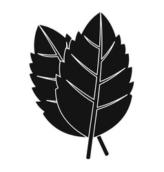 two basil leaves icon simple style vector image