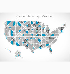 Usa map crystal style artwork vector