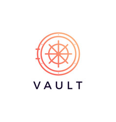 vault locker logo icon vector image