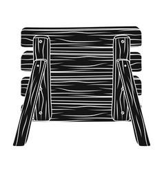 Wooden fence barikaddapaintball single icon in vector