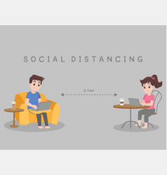 Working from home stay home stay safe social vector