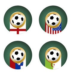 2010 Soccer World Cup South Africa Group C vector image vector image