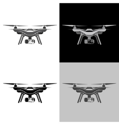 air drone quadrocopter aerial icon set vector image