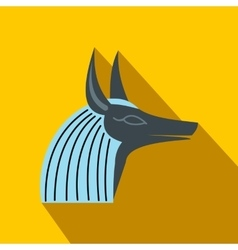 Anubis head icon flat style vector image vector image