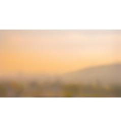 Blurred sunset background vector image