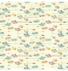 Feather arrow seamless pattern vector image