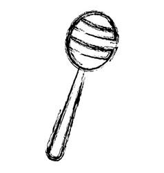 honey stick isolated icon vector image
