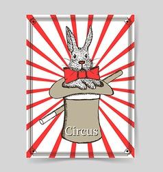 Sketch rabbit in hat in vintage style vector image