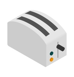 Toaster icon isometric 3d style vector