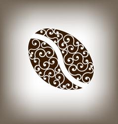 Coffee Vintage Bean Design Element vector image vector image
