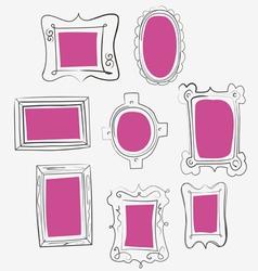 fun pink frames vector image vector image