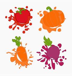 vegetebles juice drops vector image vector image
