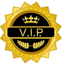 vip gold badge vector image vector image