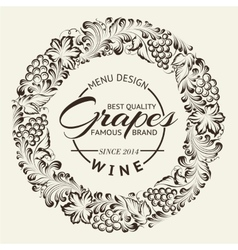 Wine list design layout on chalkboard vector image
