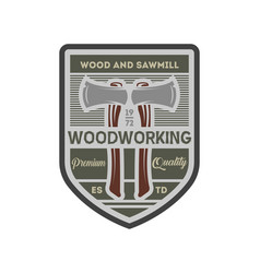 woodworking company vintage isolated label vector image
