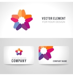 Abstract bright colorful logotype on white vector image