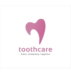 Abstract dental tooth logo icon concept Logotype vector image