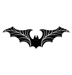 bat with stylized wings vector image vector image