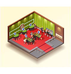 casino isometric design concept vector image