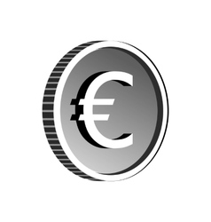 Euro sign icon simple style vector image