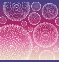 flower shape mandala icon image vector image