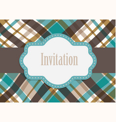 invitation design card vector image vector image