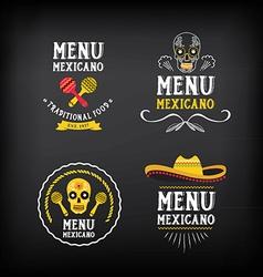 Menu mexican logo and badge design vector image vector image