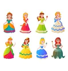Princess character set vector image vector image