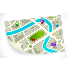 Road Route Map vector image
