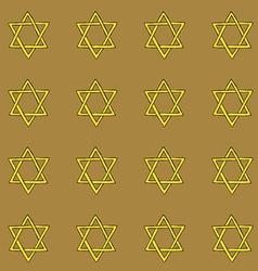 Sketch David star vector image