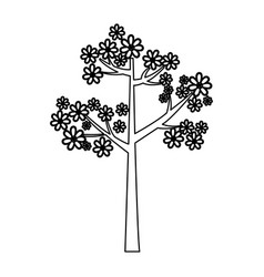 silhouette trees icon stock vector image vector image