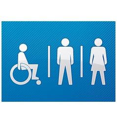 toilet symbol vector image vector image